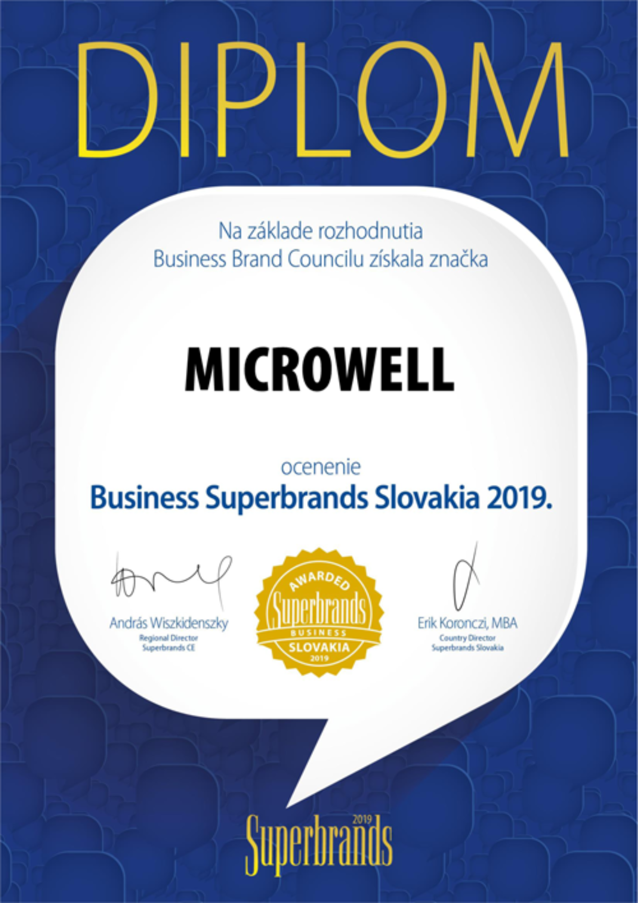 We were awarded the Slovak Business Superbrands Award 2019. | Blog - Microwell