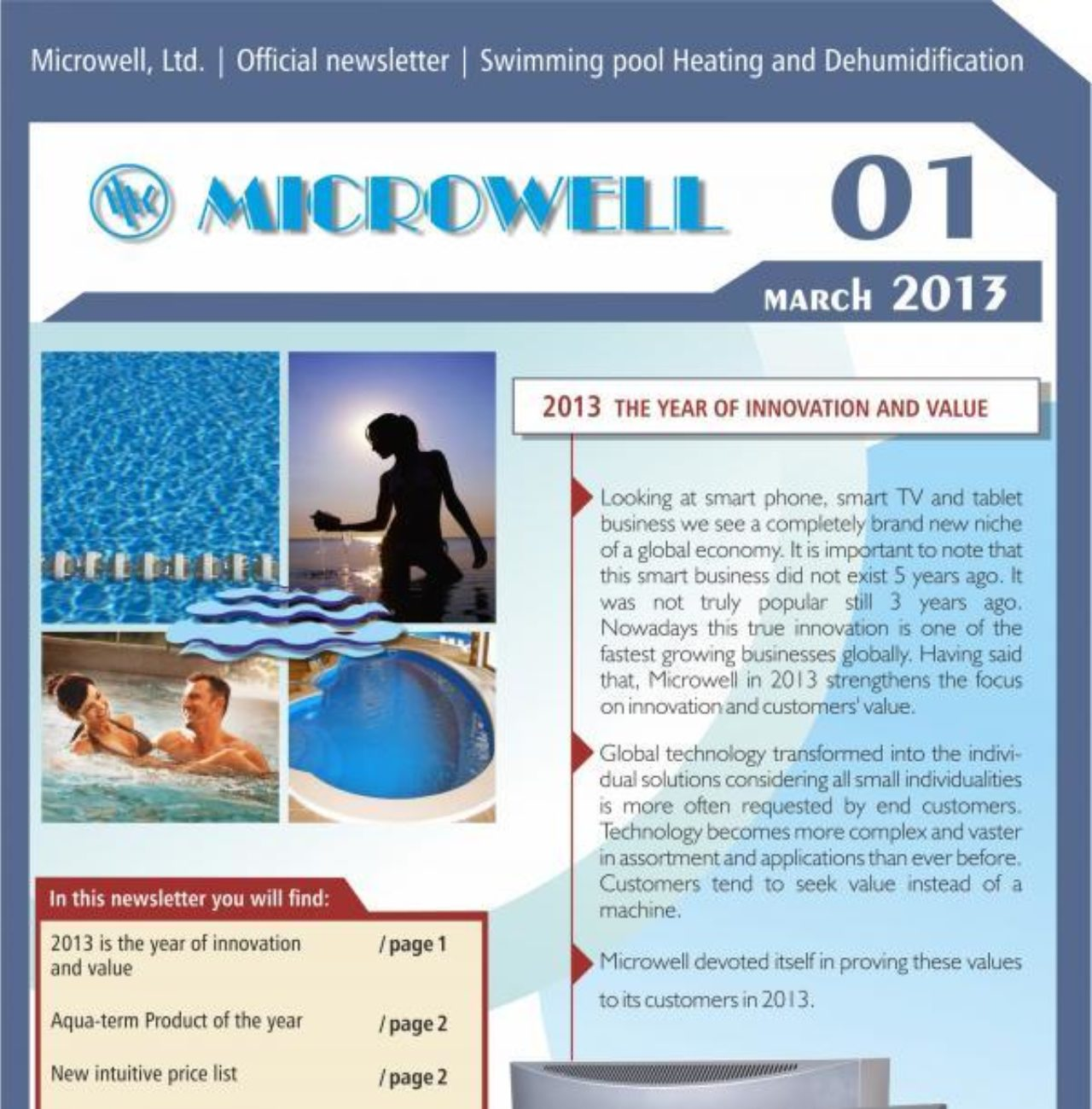 Microwell Newsletter 01/2013 | Blog - Microwell