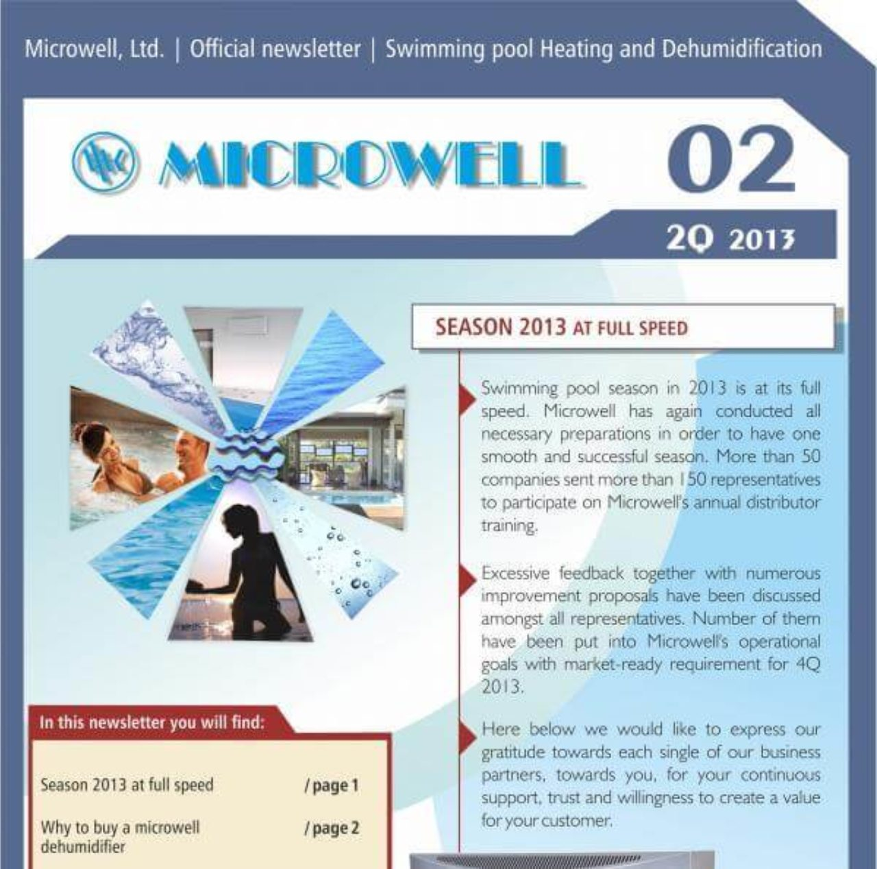Microwell Newsletter 02/2013 | Blog - Microwell