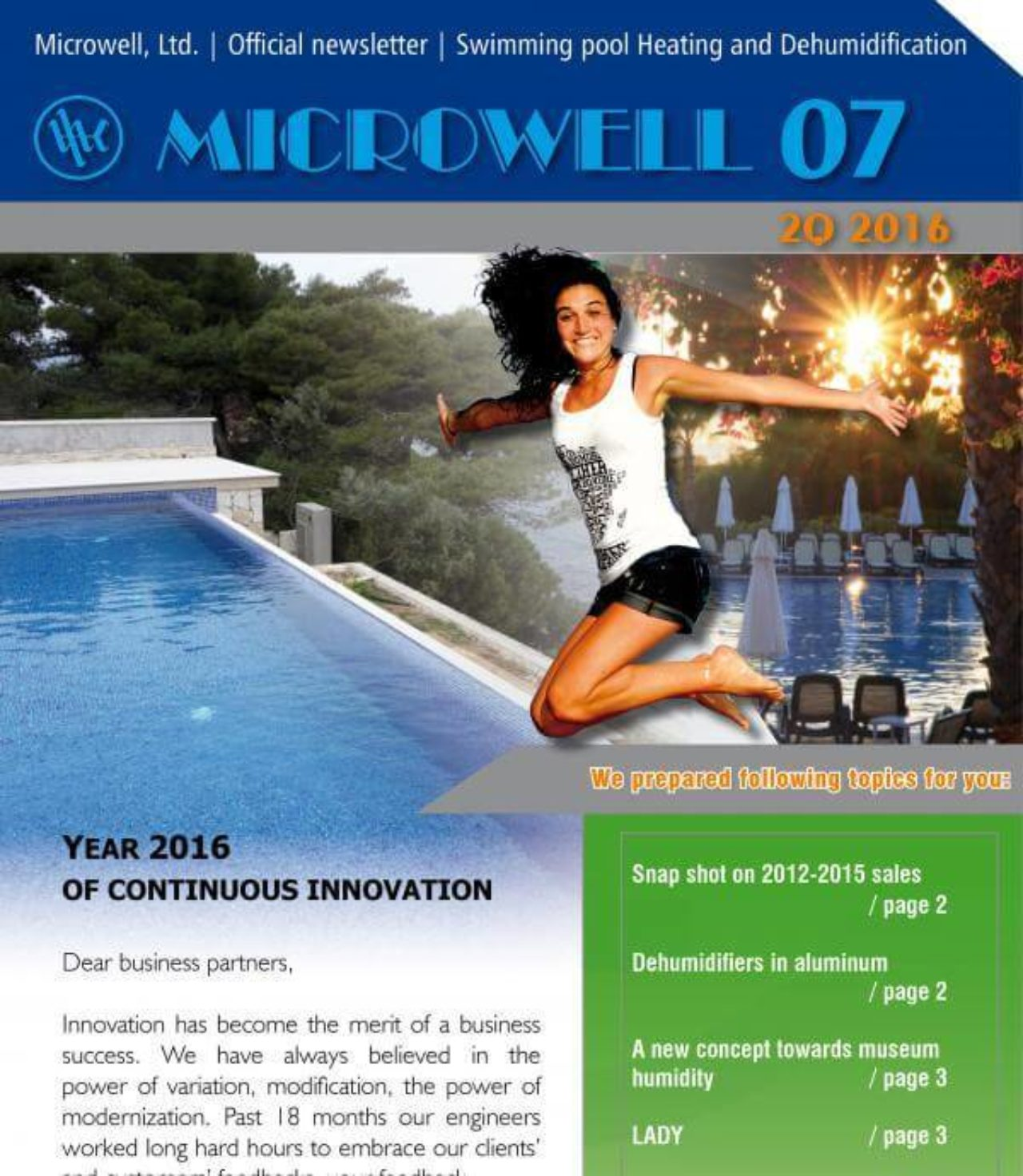 Microwell Newsletter 07/2016 | Blog - Microwell