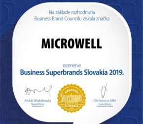 We were awarded the Slovak Business Superbrands Award 2019. | Microwell