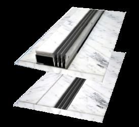 Aluminum floor air grills - Microwell