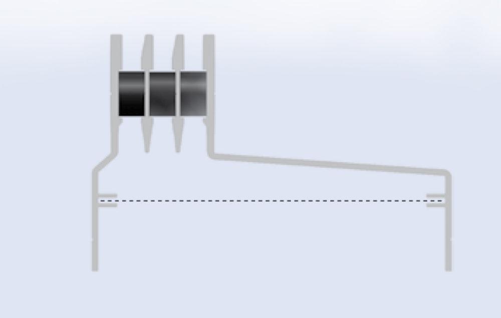 Floor Grills Asymetric | Aluminiowe podłogowe szyny wentylacyjne - Microwell