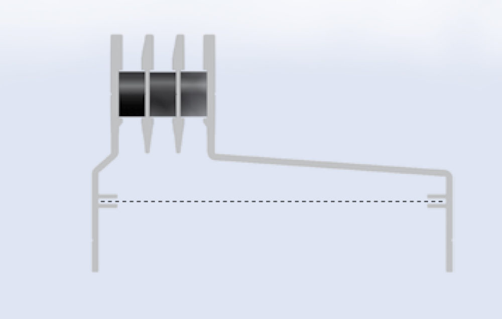 Floor Grills Asymetric | Aluminum floor air grills - Microwell