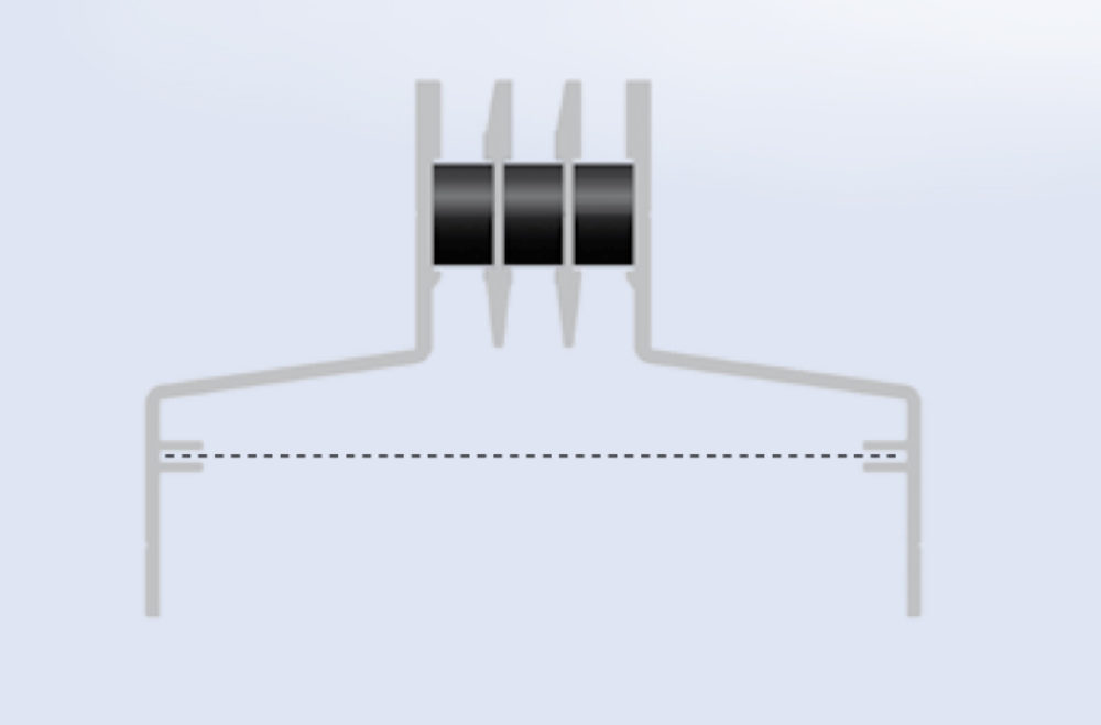 Floor Grills Symetric | Aluminum floor air grills - Microwell